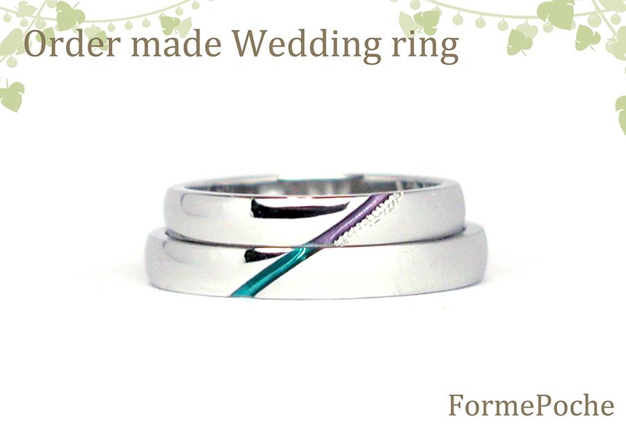 hi170409w1063-03 オーダーメイド 色つき結婚指輪 ミル