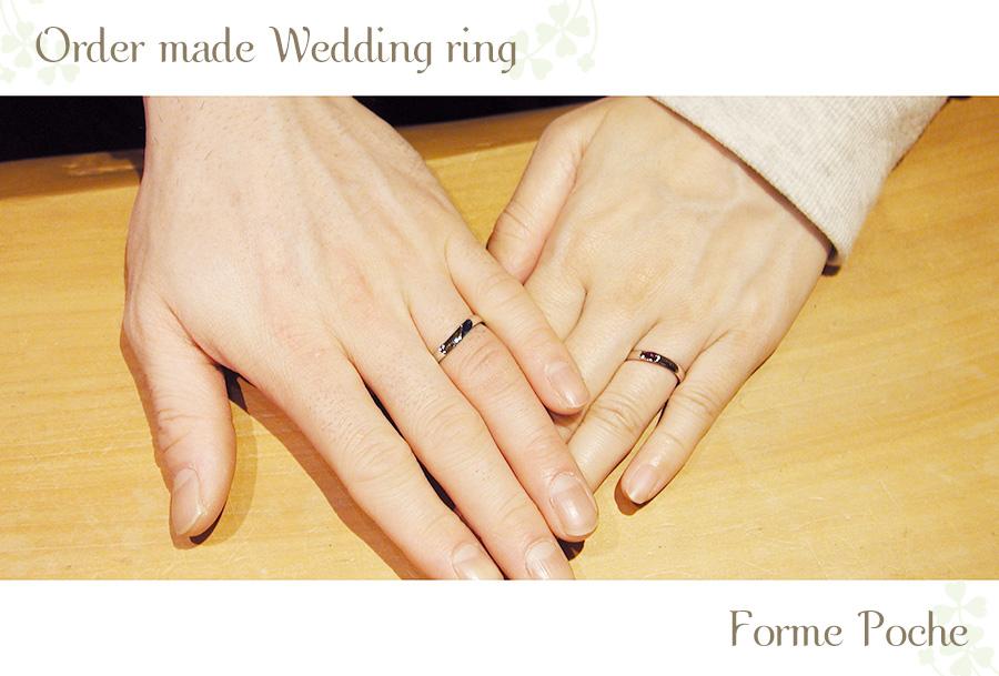 大阪オーダーメイド結婚指輪 シンプル w1067hi