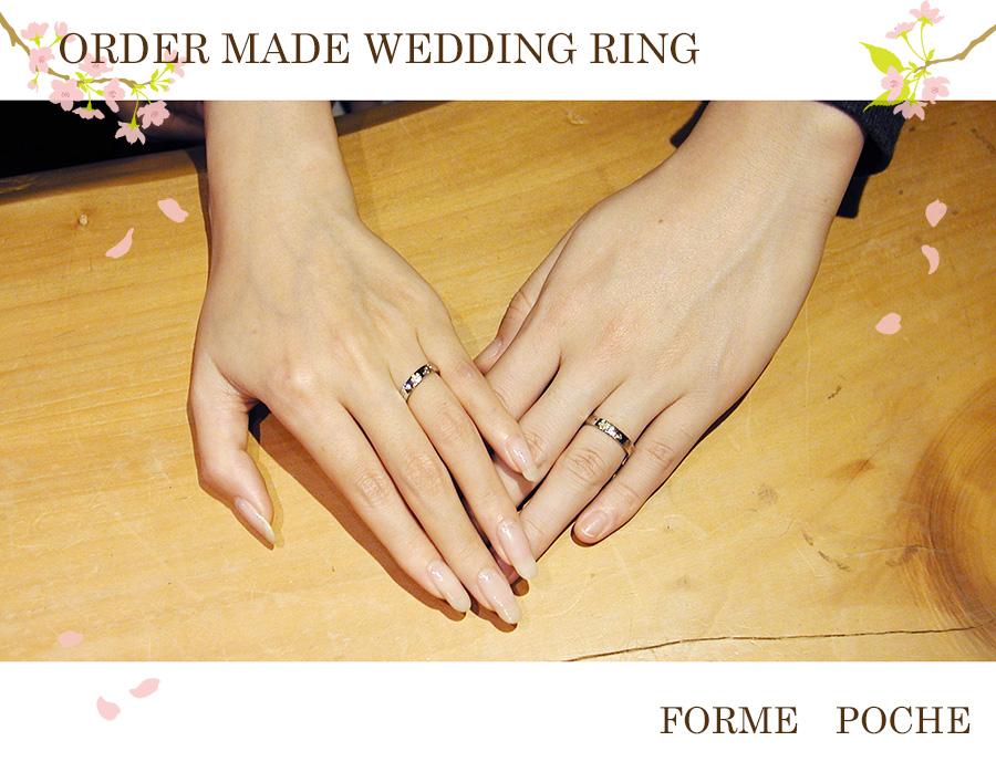 hi170427w1160-01 結婚指輪 大阪 ミナミ オーダー 手彫り