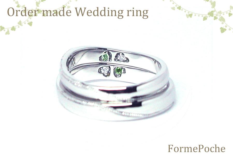 hiw1056r02 結婚指輪 大阪 内石 クローバー