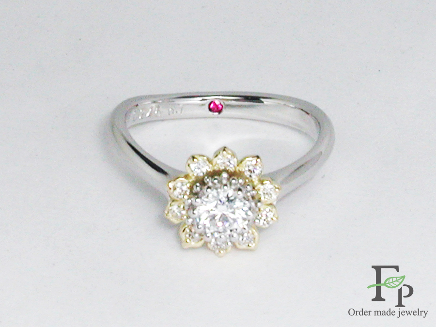 hi170504w1049 婚約指輪 ひまわり 誕生石 大阪 フォルムポッシュ07
