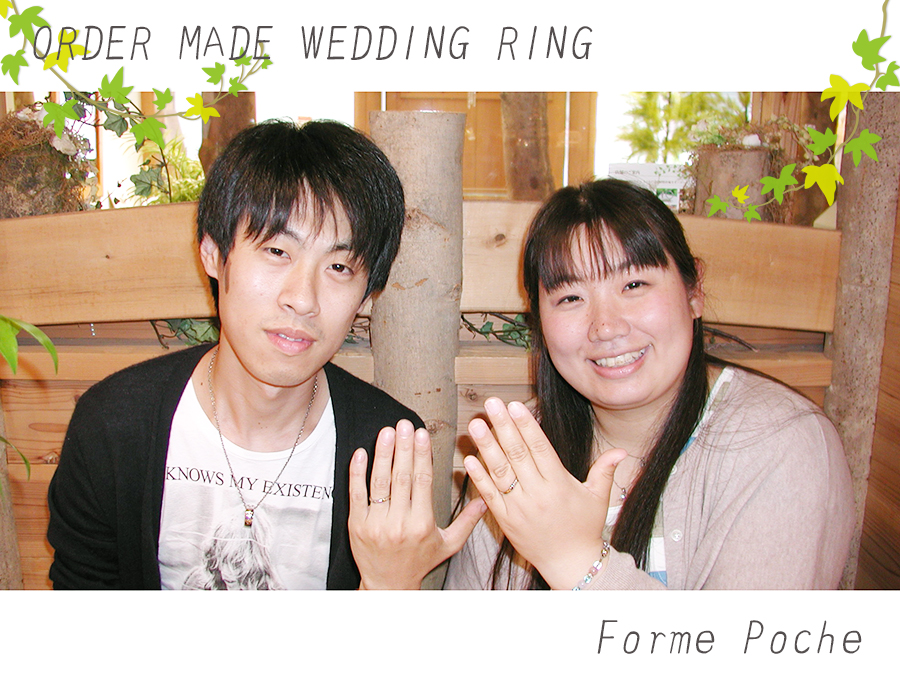 hiw1059-01 オーダーメイド 結婚指輪 大阪 ミナミ