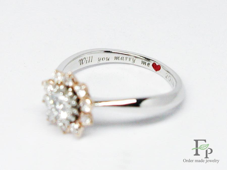hi170504w1049 婚約指輪 ひまわり 刻印 大阪 フォルムポッシュ08