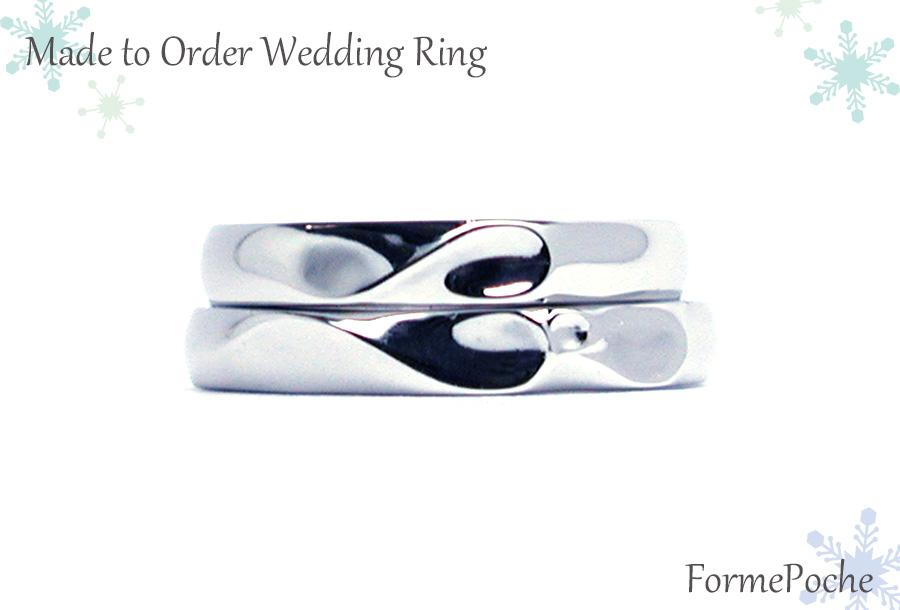 hi170601w1084R01 オーダーメイド結婚指輪 イニシャルハート
