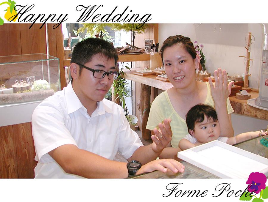 170623w1091-2 オーダーメイド結婚指輪 大阪 家族の誕生石