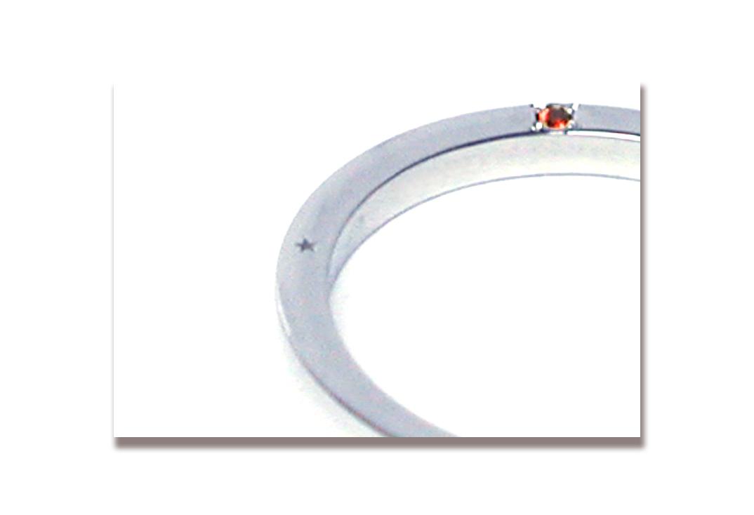 170623w1091-R3 オーダーメイド結婚指輪 大阪 家族の誕生石 側面宝石