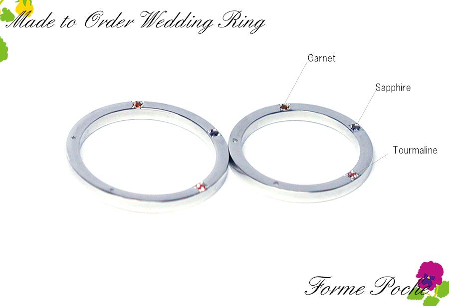 170623w1091-R1 オーダーメイド結婚指輪 大阪 家族の誕生石 側面宝石