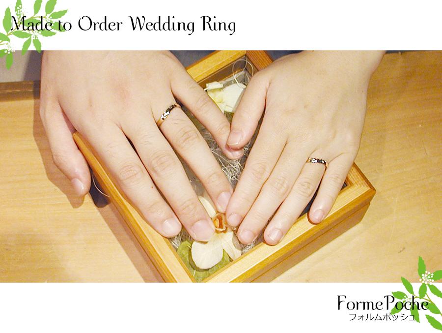 hi170726w1087-02 オーダーメイドの結婚指輪 大阪 シンプル イニシャル タガネ 音符