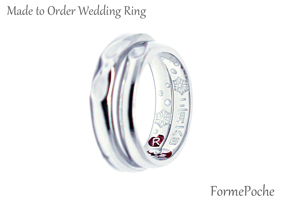 hi170601w1084R02 オーダーメイド結婚指輪  手書きの文字 刻印