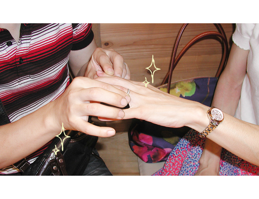 hi170724w1097 オーダーメイド結婚指輪お引き取り時