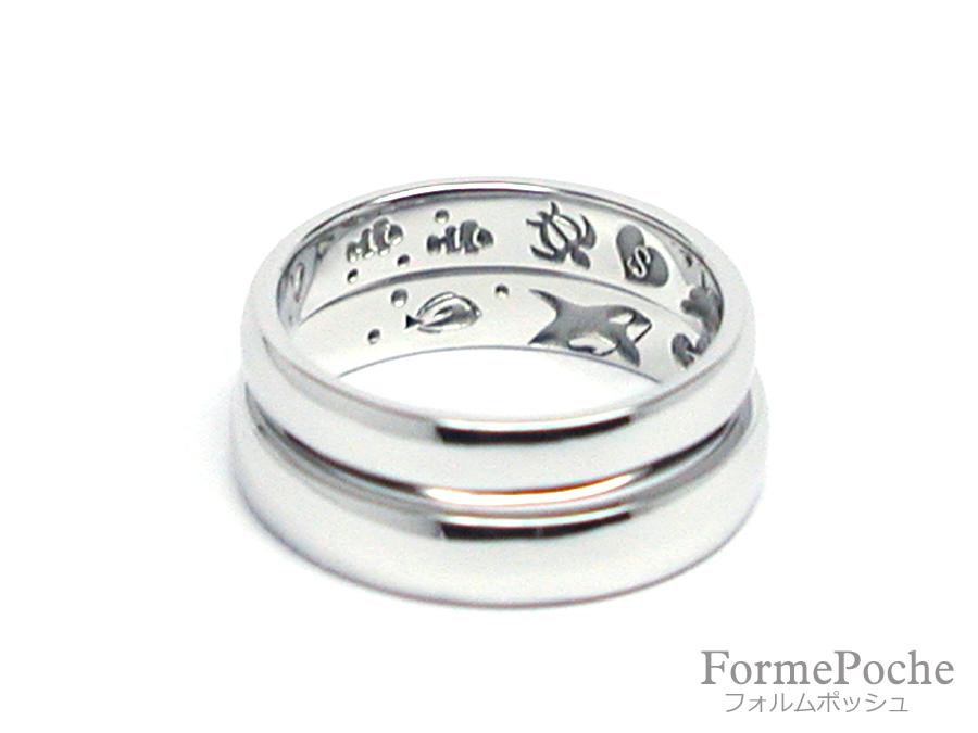 hi170703w1099-01-2 オーダーメイド結婚指輪 大阪 刻印 海 イルカ シャチ クマノミ