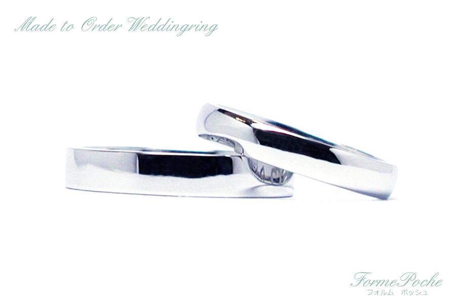 hi170804w1083R3 オーダーメイド結婚指輪 シンプル 内彫り