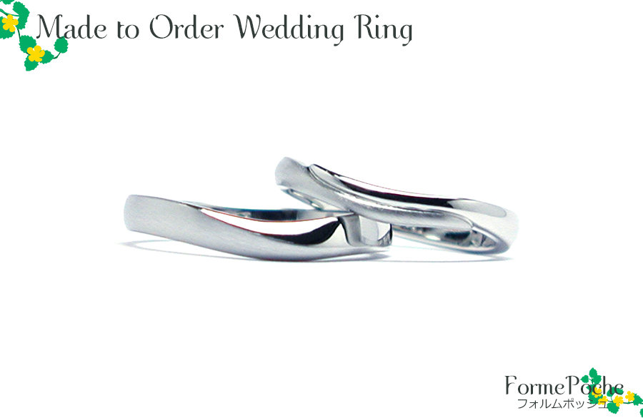 hi170811w1188-R2 オーダーメイドの結婚指輪 大阪 ウェーブライン プラチナリング