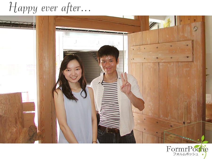 170908w1101-2 オーダーメイドの結婚指輪 大阪 タガネ彫り イニシャル 華奢