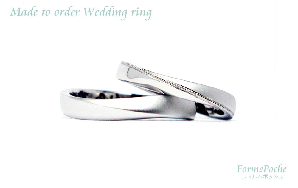 hi170907w1100-2 結婚指輪 大阪 ウェーブ ミル打ち プラチナ 指輪