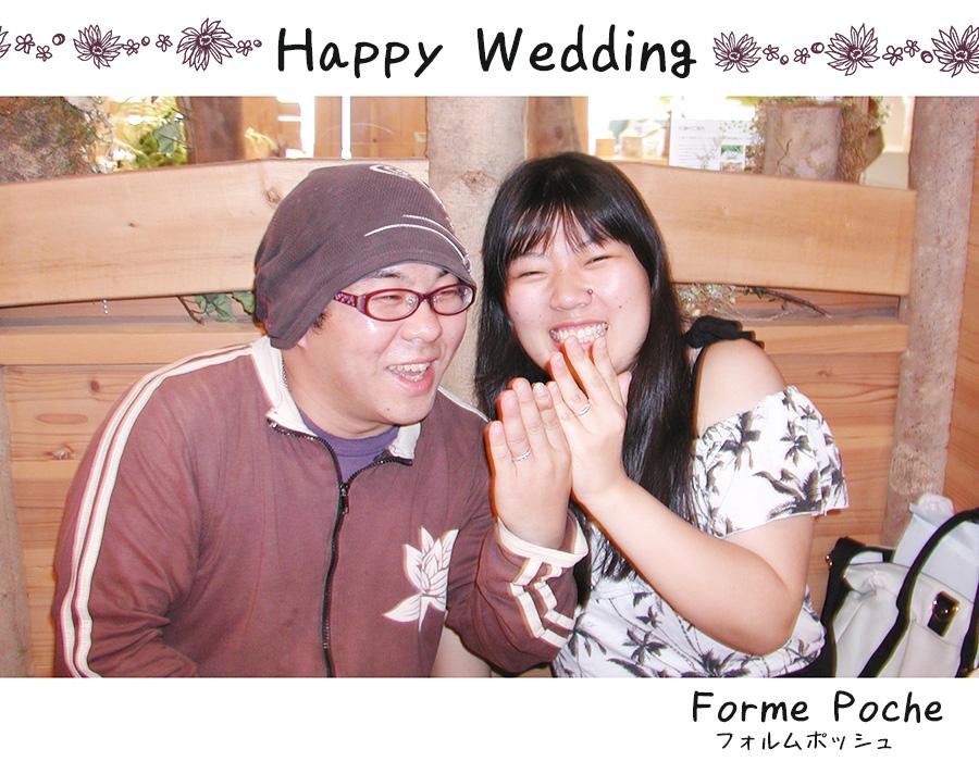 hi170911w1102 オリジナルの結婚指輪 大阪 お花 自筆 イニシャル クローバー