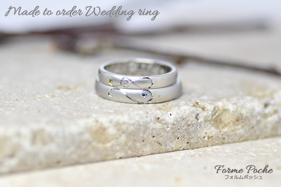 hi171105w1114-R1 オーダーメイドの結婚指輪 シンプル 音符 ダイヤ