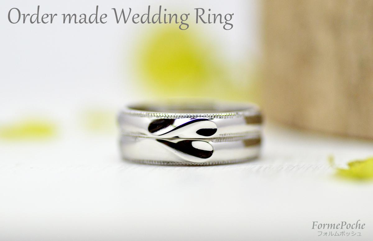 hi180204w1119 オーダーメイドの結婚指輪 シンプル heart ミルグレイン R02
