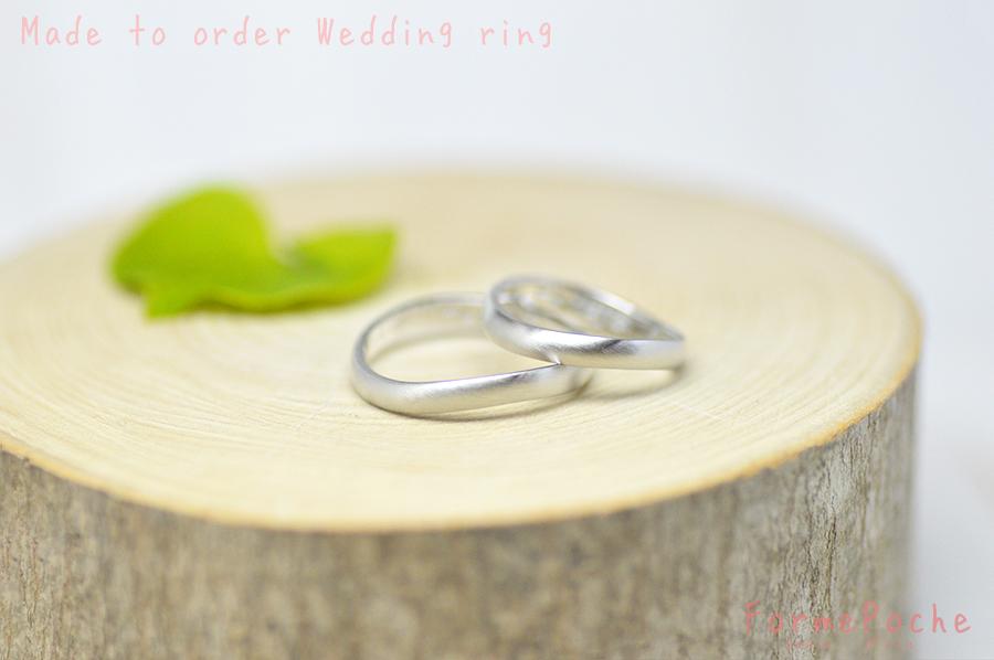 hi180521 w1224-Rin01 オーダーメイドの結婚指輪 関西 刻印 ナチュラル シンプル