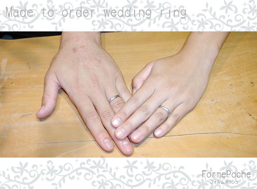 hi180315w1121 オーダーメイドの結婚指輪 名古屋 愛知 サッカー イニシャル 手彫り
