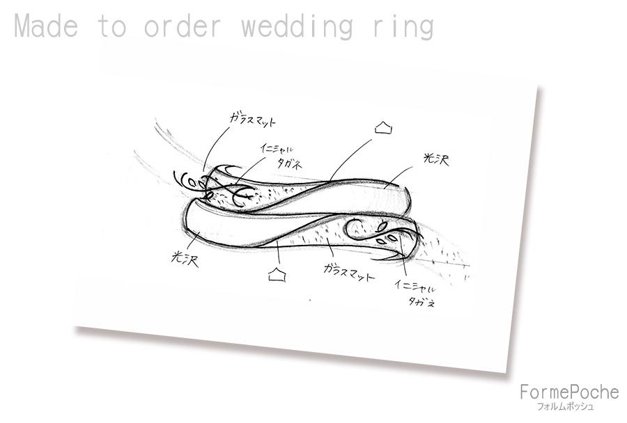 hi180315w1121指輪D01 オーダーメイドの結婚指輪 名古屋 愛知 イニシャル 手彫り