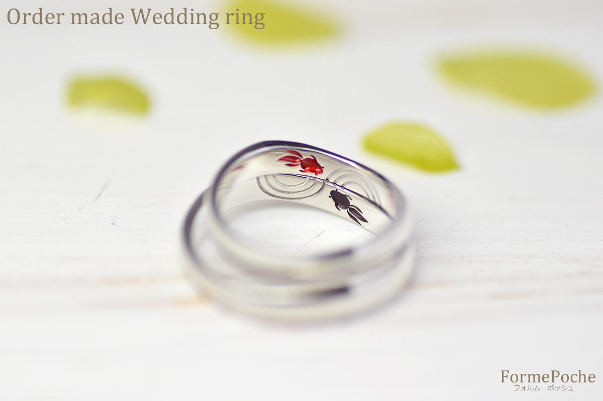 180325hi w1121-01 大阪心斎橋の結婚指輪 刻印 シンプル ナチュラル 金魚