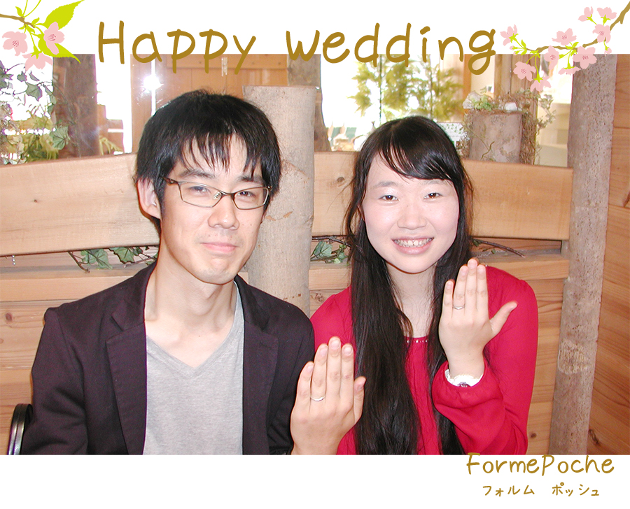 hi180305w1118-1 オーダーメイド結婚指輪 関西 桜 カラフル