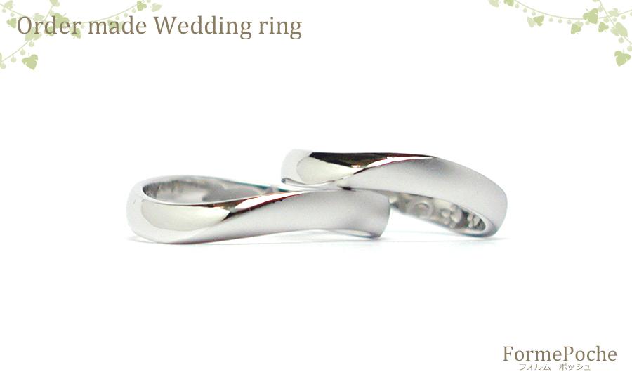 180325hi w1121-01 大阪心斎橋の結婚指輪 刻印 シンプル ナチュラル