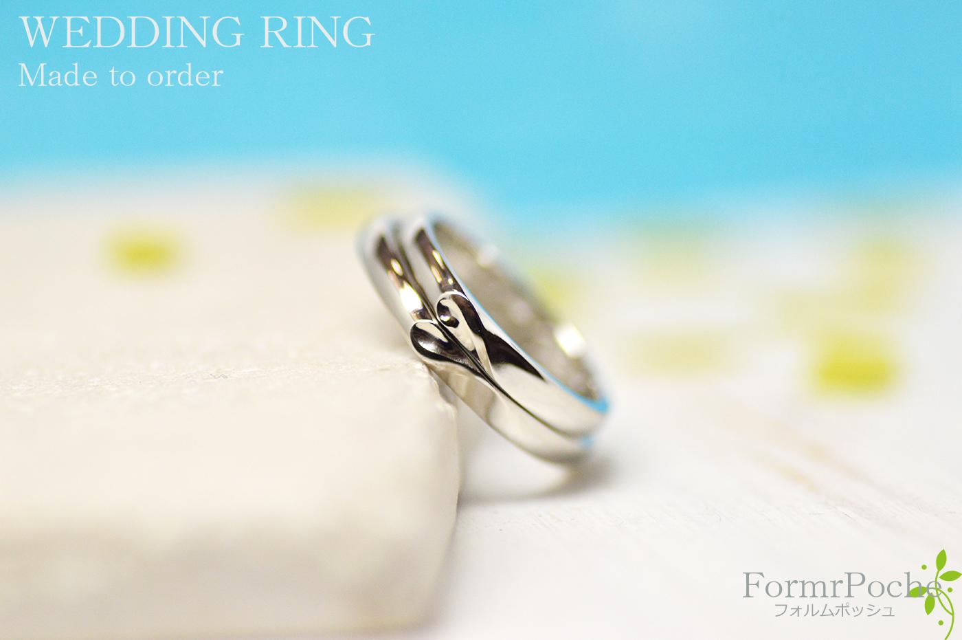 hi180409w1126 -ring2オーダーメイドの結婚指輪 大阪 刻印 ネコ heart イニシャル 星