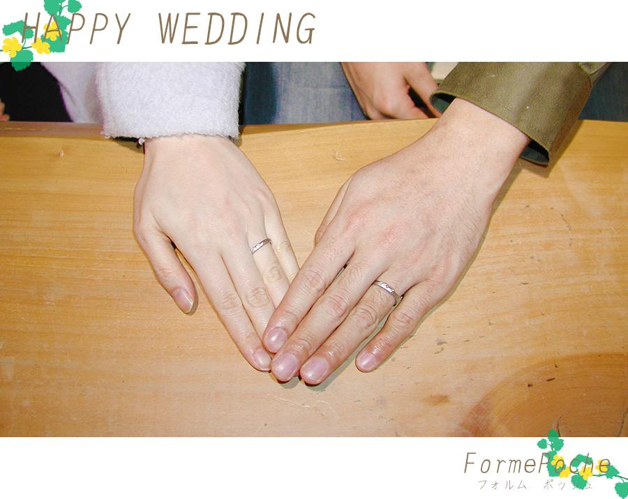 hi180428w1140-1 オーダーメイドの結婚指輪 イニシャル 手彫り オリジナル 刻印 ネコ