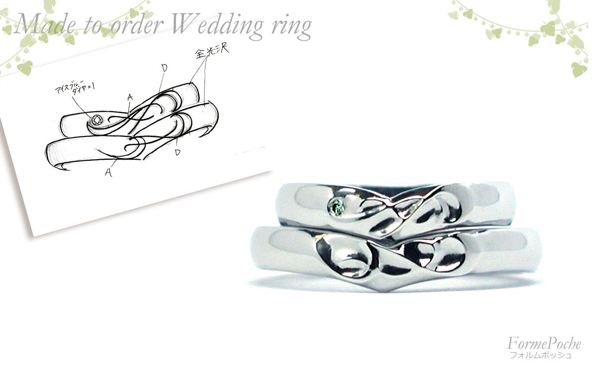 hi180420w1136-R3オーダーメイドの結婚指輪 ネコとお城の刻印 イニシャル