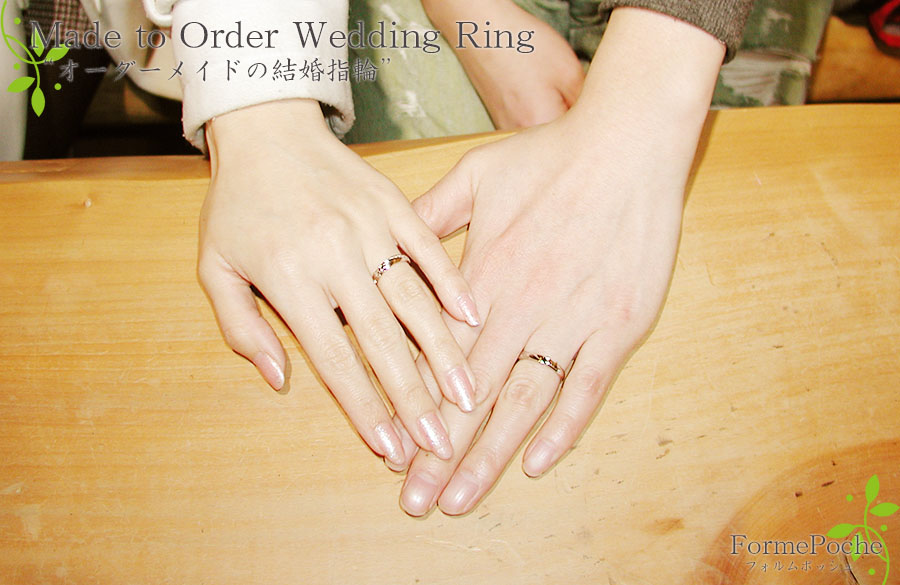 hi180514w1148-1 オーダーメイドの結婚指輪 大阪 猫 リボン ダイヤモンド