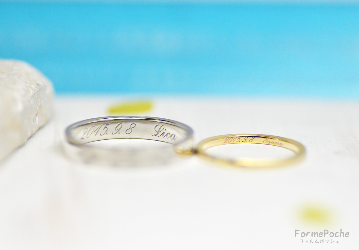 hi180607w1149-2 結婚指輪 刻印 シンプル オーダー 大阪