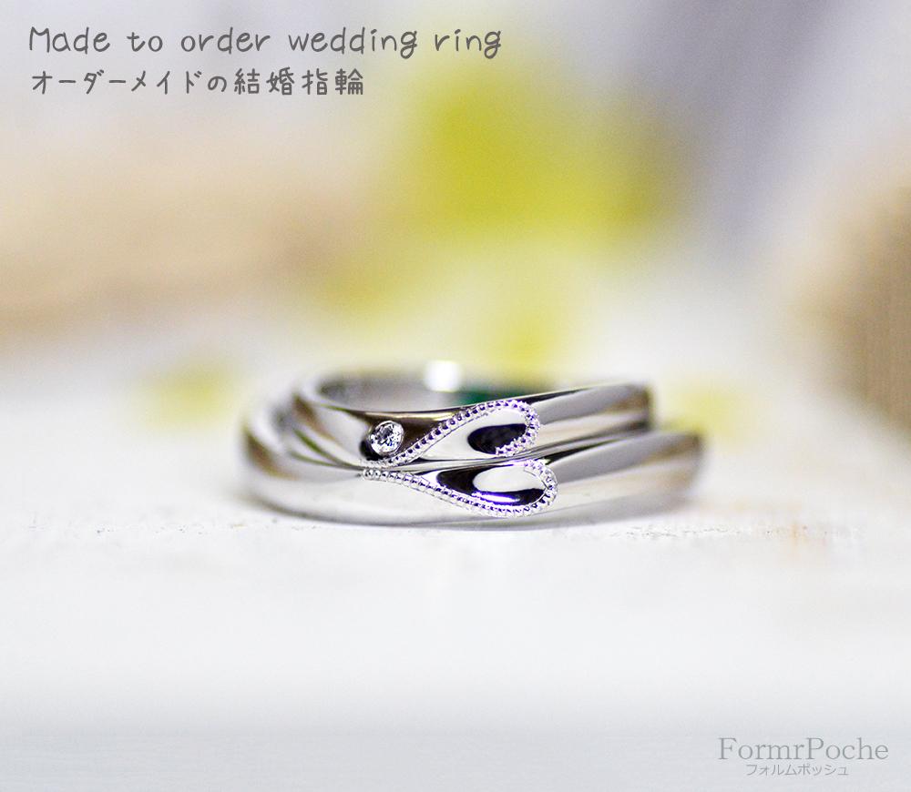 hi180714w1163 結婚指輪-2 オーダー クローバー 内側 刻印