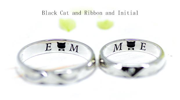 w1241黒猫とリボン・イニシャル 1-2
