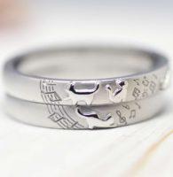 1.楽譜と愛猫たちを描いた結婚指輪