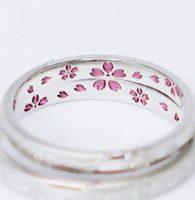 23.桜舞う結婚指輪のオーダーメイド