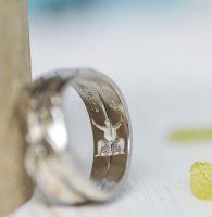 大好きな大相撲を彫刻した結婚指輪