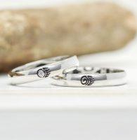 クマの手をデザインした結婚指輪
