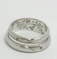 薔薇と音楽とふたりの趣味をオーダー刻印した結婚指輪4最