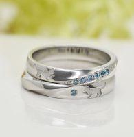 猫ちゃんとふたりの繋がりをデザインした結婚指輪
