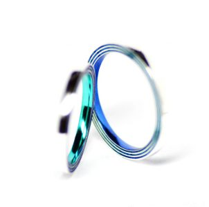 2つの広がる波紋画をイメージした結婚指輪